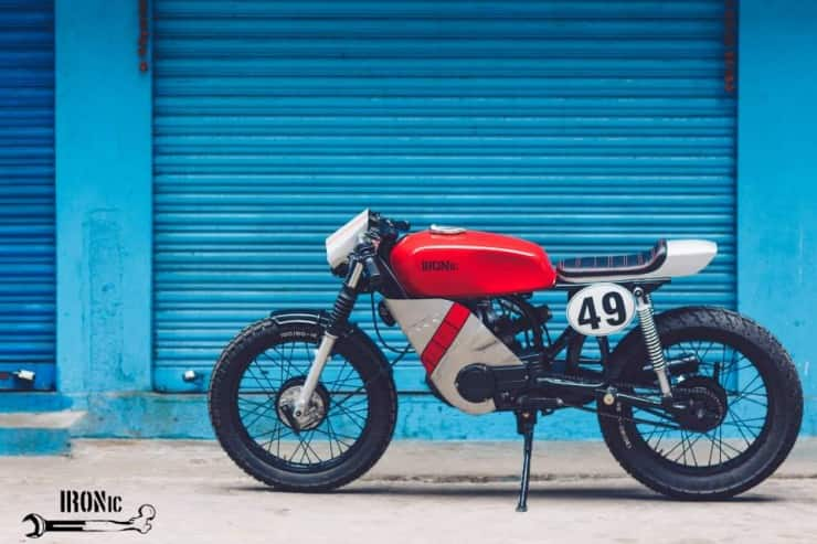 this customised yamaha rx100 cafe racer will almost perish your