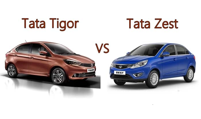 new launched car zestTata Tigor vs Tata Zest Compare Price Features Specifications