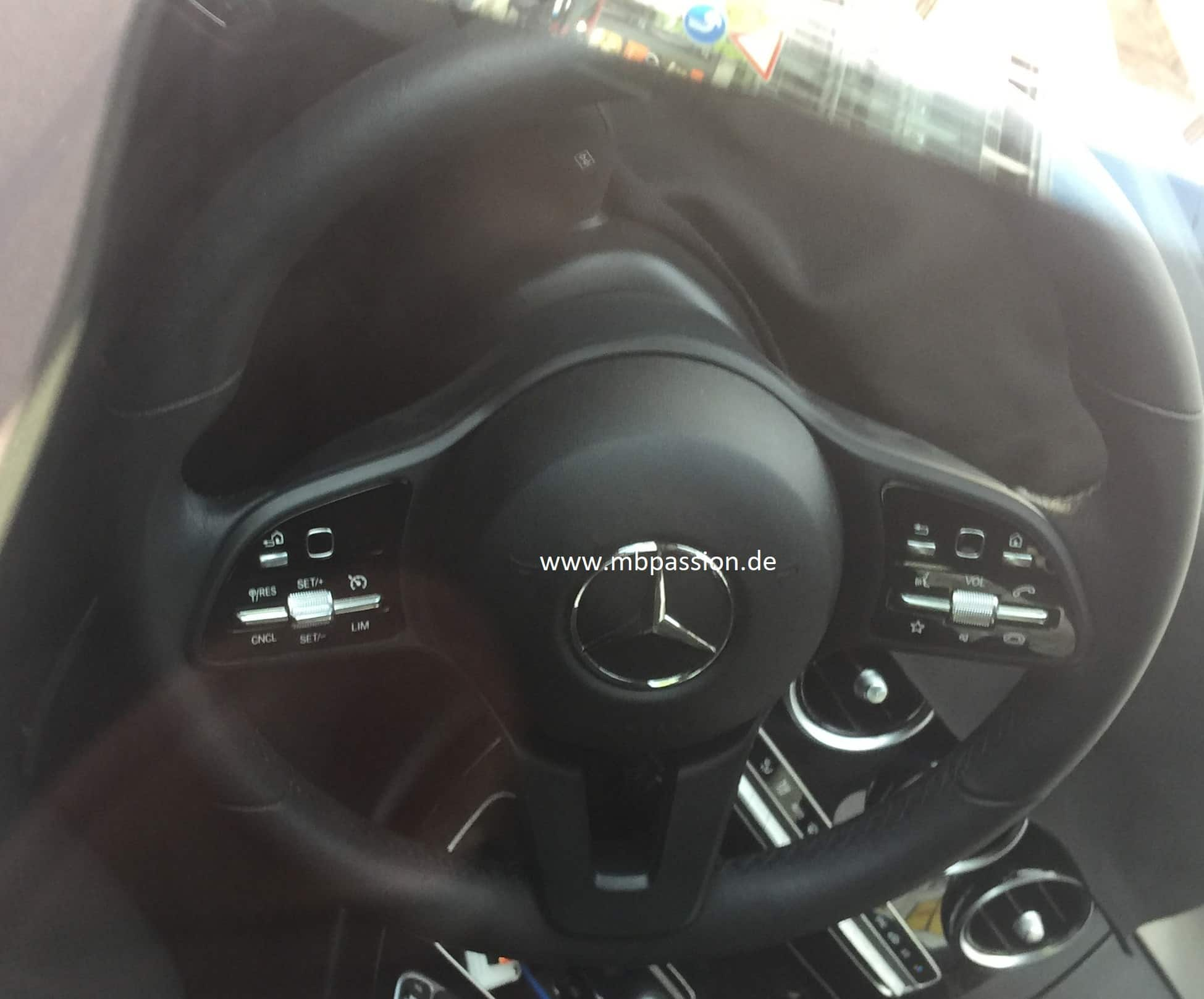 2018 mercedes benz c class interiors spied find new upcoming cars latest car bikes news. Black Bedroom Furniture Sets. Home Design Ideas
