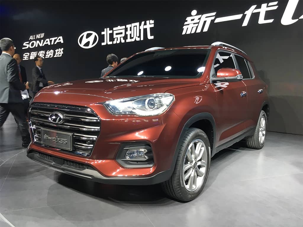 hyundai ix35 suv breaks cover at 2017 shanghai motor show find new upcoming cars latest. Black Bedroom Furniture Sets. Home Design Ideas