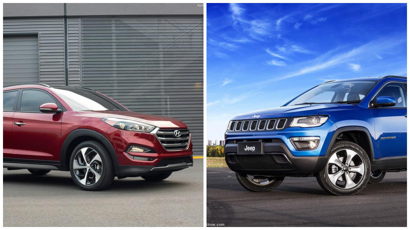 hyundai tucson vs jeep compass comparison price in india specs features dimensions find. Black Bedroom Furniture Sets. Home Design Ideas