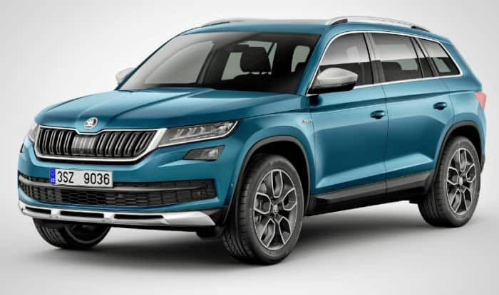 Skoda Kodiaq SUV uncamouflaged images spotted testing in India