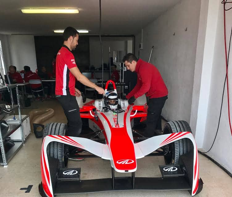 Watch Gul Panag as she takes on a Formula E Race Car