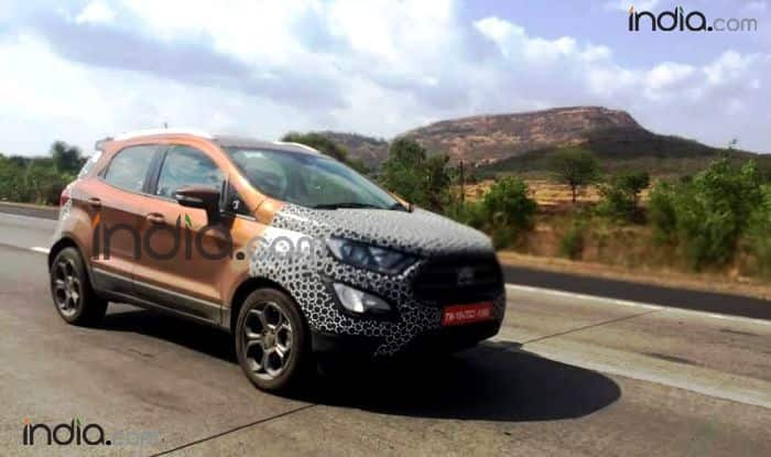 Ford EcoSport 2017 Spy Images Reveal New Red Colour Option Expected Launch Date Price Features