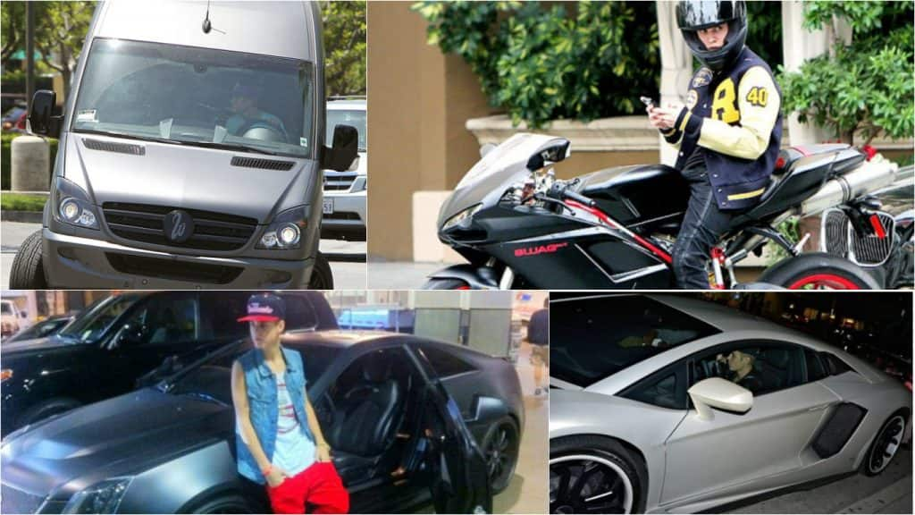 Justin Bieber And His Vast Collection Of Cars And Motorcycles