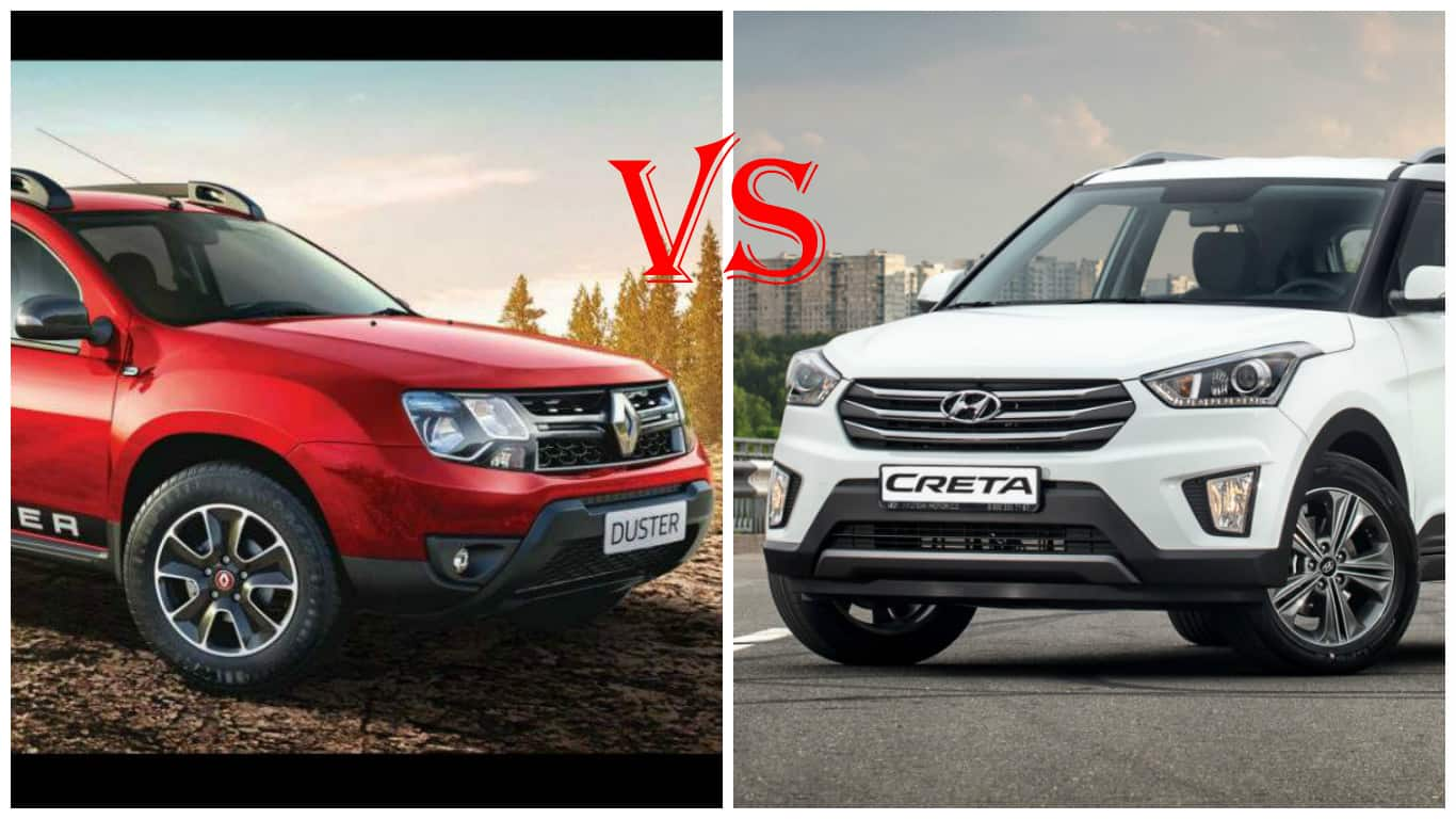 renault duster petrol cvt vs hyundai creta at price features and specification comparison. Black Bedroom Furniture Sets. Home Design Ideas