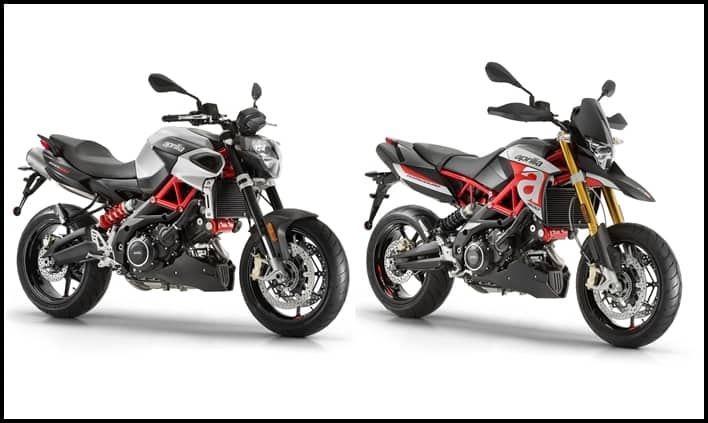 aprilia shiver 900 and dorsoduro 900 launched in india. Black Bedroom Furniture Sets. Home Design Ideas