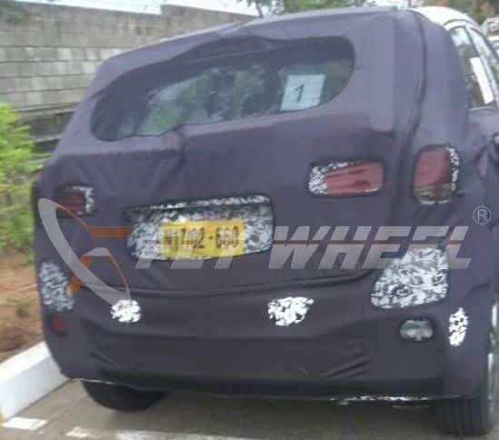 2018 hyundai i20. interesting hyundai the new spy shots curtsy flywheel reveal images of the rear facia  hyundai elite i20 facelift going by these it seems that hatchback  in 2018 hyundai p