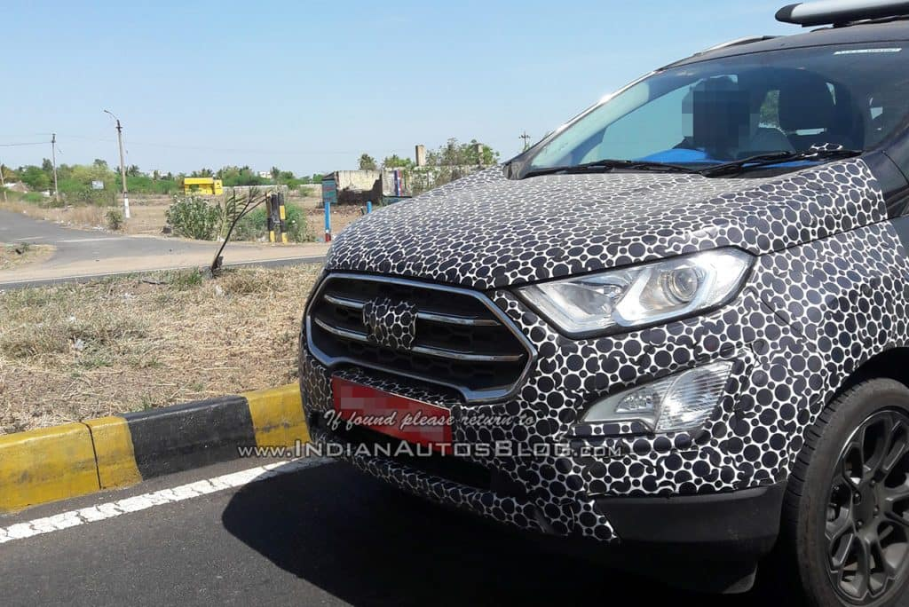 new car launches before diwaliFord EcoSport 2017 spied with updated SYNC 3 infotainment system