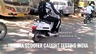 Yamaha's upcoming 125cc scooter Nozza Grande spied testing in India; Official launch expected soon