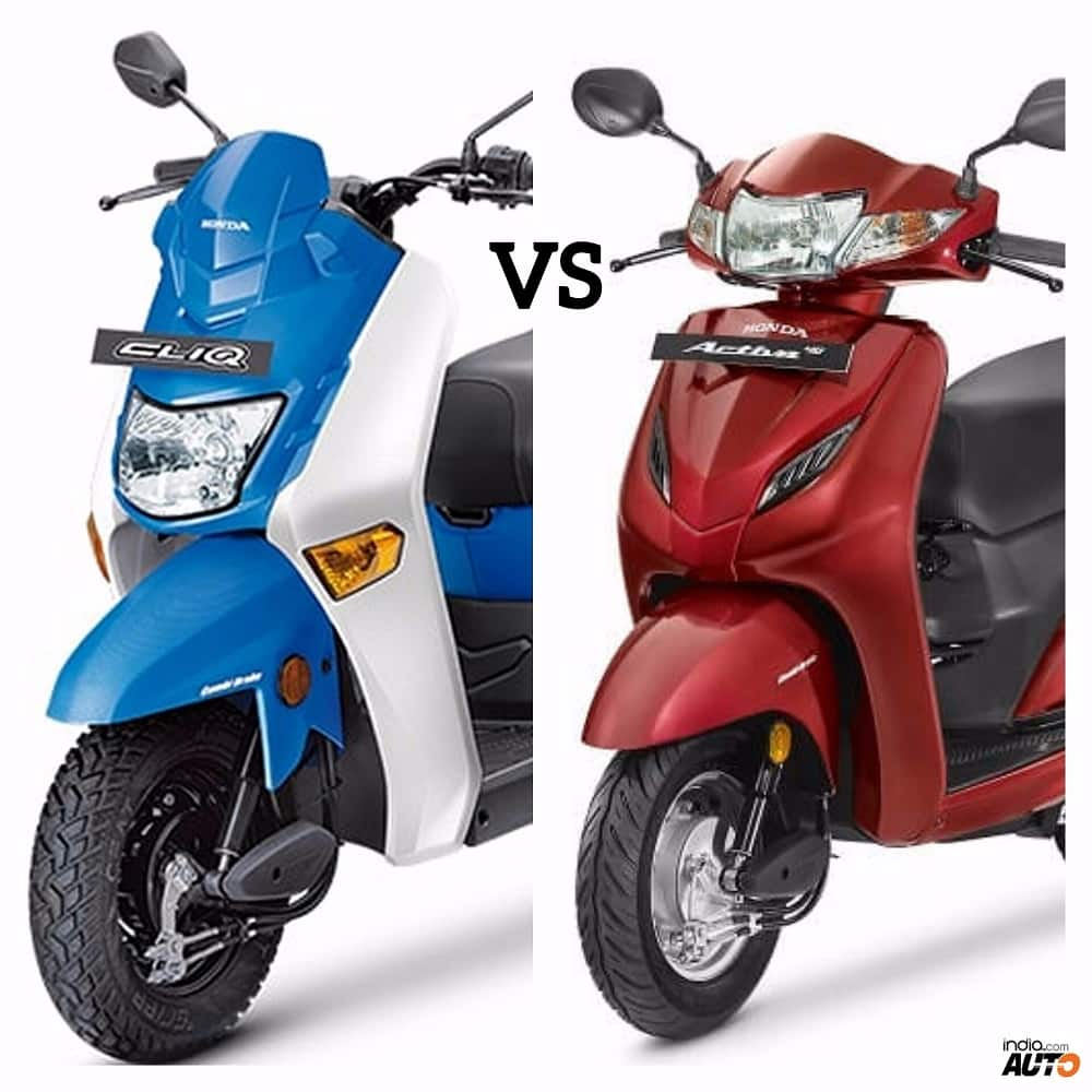 Honda Cliq Vs Honda Activa 4g Comparison Report Price