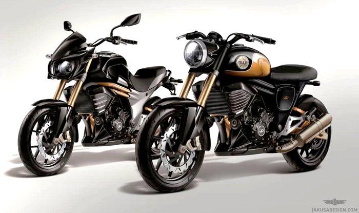 BSA Motorcycle Rendered Based on Mahindra Mojo