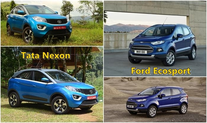 Tata Nexon vs Ford EcoSport – Comparison: Price in India, Images, Interior, Variants, Mileage, Features
