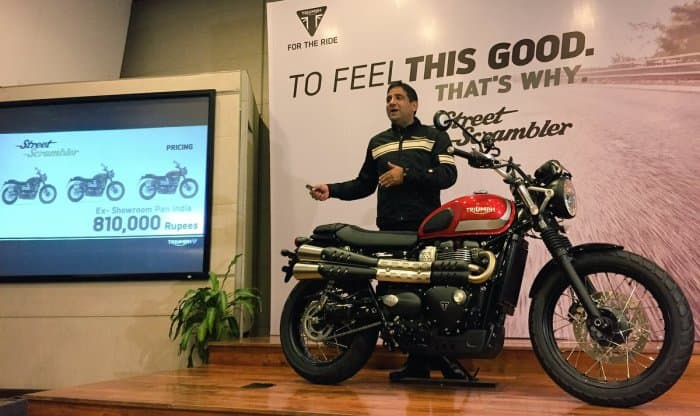 Triumph Street Scrambler Hits Indian Roads for Rs 8.1 Lakh