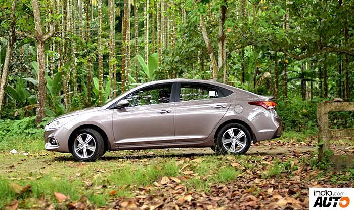 Hyundai Verna 2017 side profile