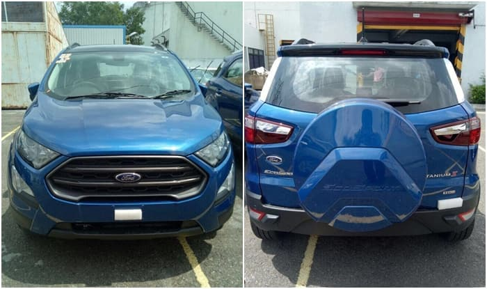 Going By The Spy Shots New Ford EcoSport Gets Grille Design With Chrome Embellishments Conventional Halogen Head Lights Fog