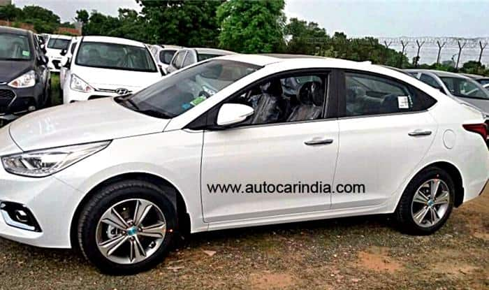 Hyundai Verna Polar White Colour Option - Side Profile