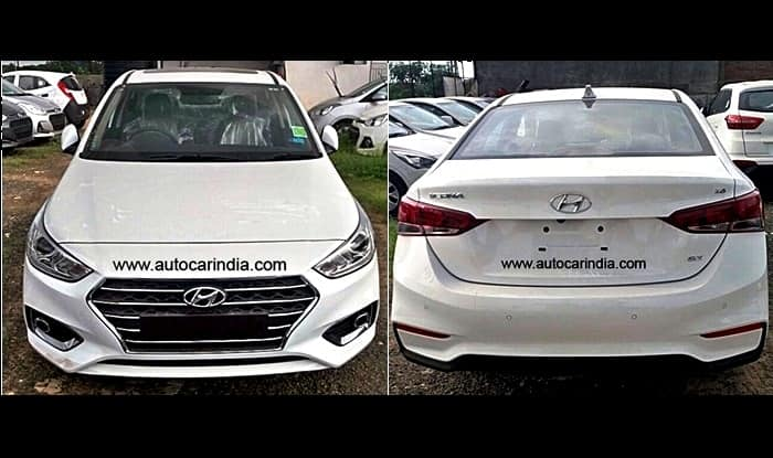 Hyundai Verna Polar White Colour Option