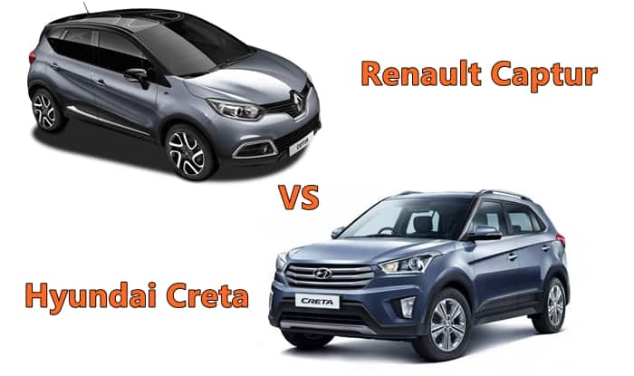 renault captur vs hyundai creta price in india interior dimensions specs features. Black Bedroom Furniture Sets. Home Design Ideas