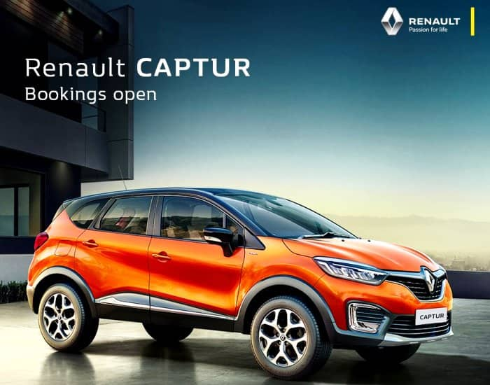 India Spec Renault Captur bookings open