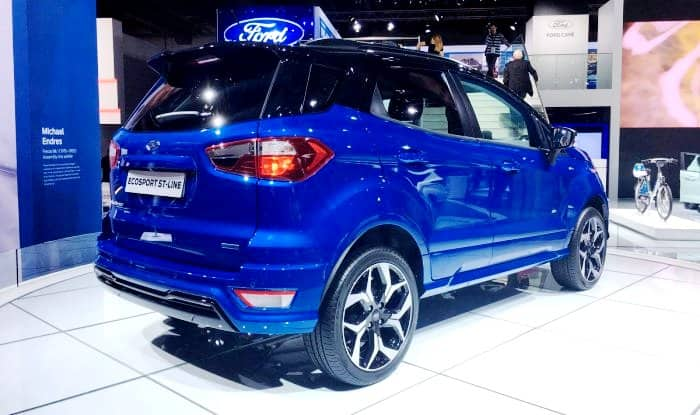 frankfurt motor show 2017 ford ecosport st line 2018 unveiled at iaa 2017 check images find. Black Bedroom Furniture Sets. Home Design Ideas