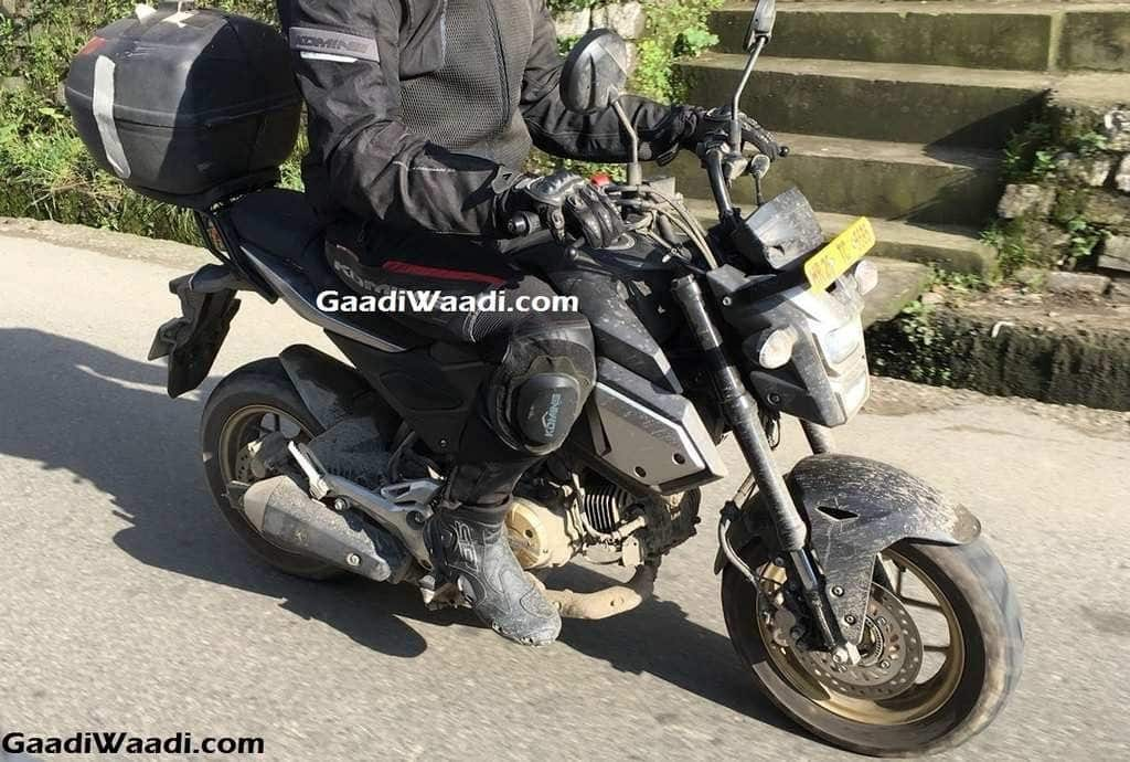 Honda grom msx125 spied testing in shimla india launch for 2018 honda grom top speed