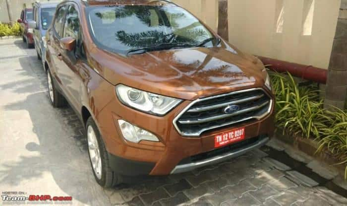 Ford EcoSport 2017 Starts Arriving At Dealerships Price In India Launch Date Bookings Specs Features