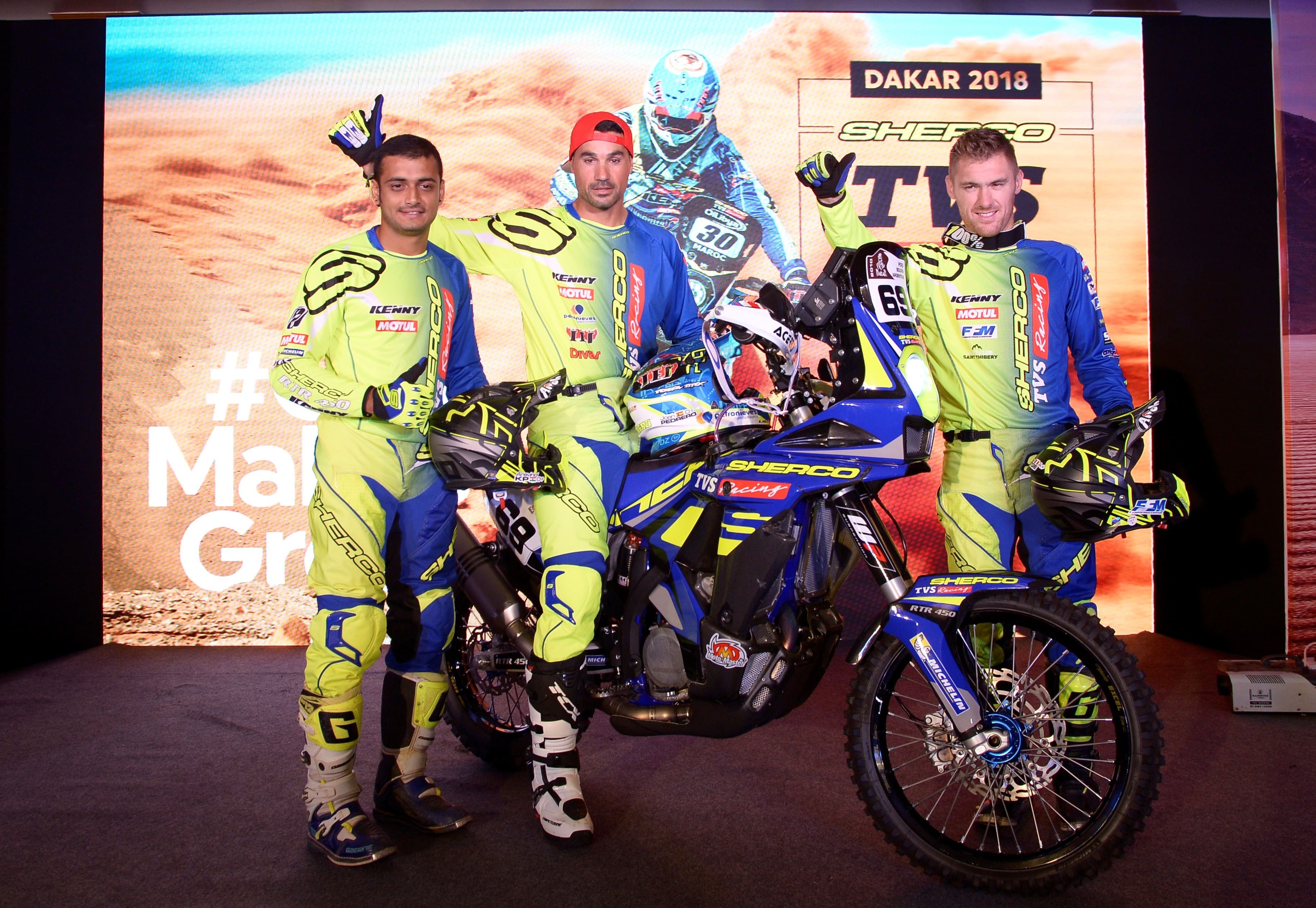 Sherco-TVS Factory Rally Team officially announce 3-rider squad for upcoming Dakar 2018