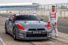 This Modified Remote Controlled Nissan GT-R driven Silverstone through a Play Station Controller