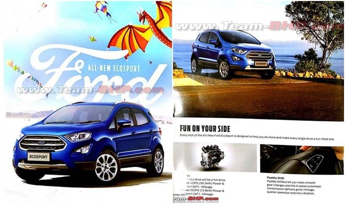 2017 Ford Ecosport Brochure Leaked Online Ahead Of Launch