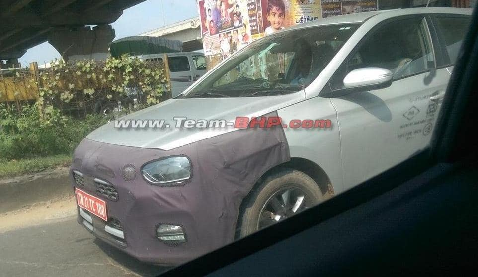 Spy Pics: Hyundai Elite i20 Facelift Spotted Testing - Sports New Alloy Wheels