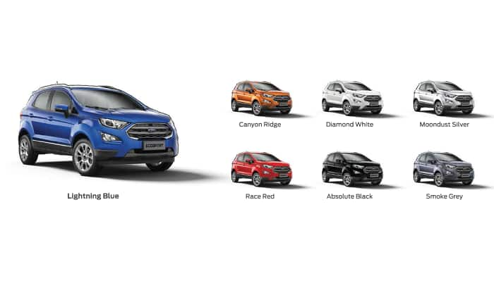 Ecosport Colour Options