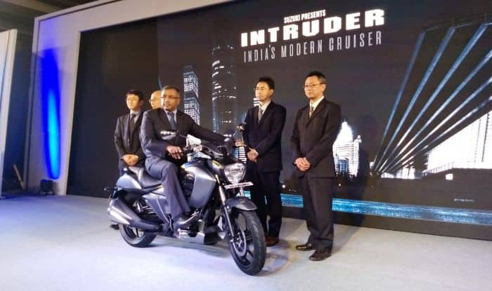 suzuki intruder 150 showcased launch event