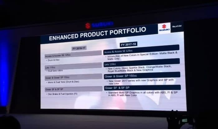 suzuki intruder launch event product portfolio