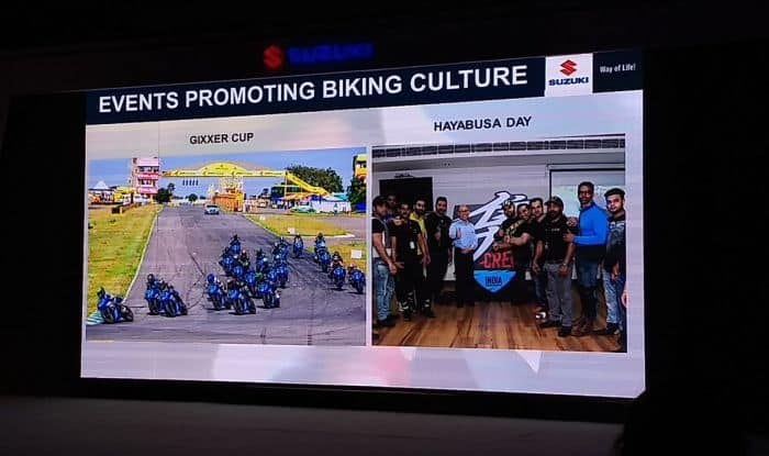 suzuki intruder launch event promoting motorcycling in india