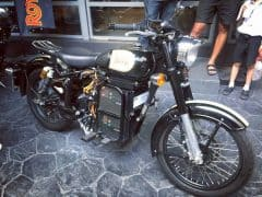Electric Royal Enfield Classic 500 Seen at Thailand Dealership