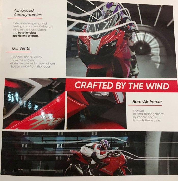 TVS Apache RR 310 aerodynamics