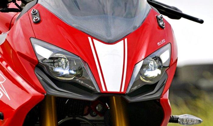 TVS Apache RR 310 front profile - headlamps