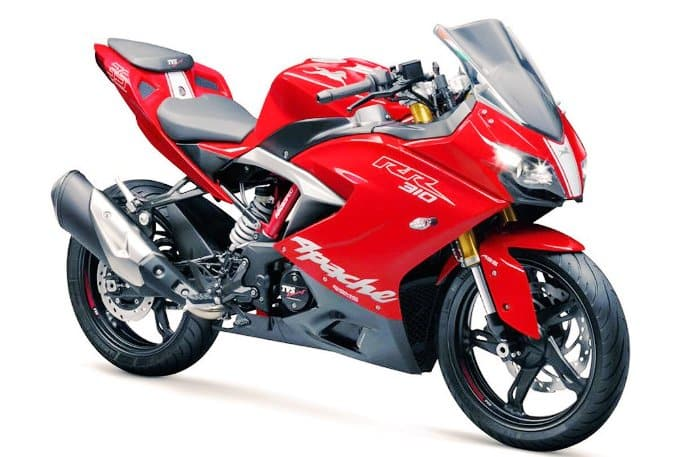 TVS Apache RR 310 images red