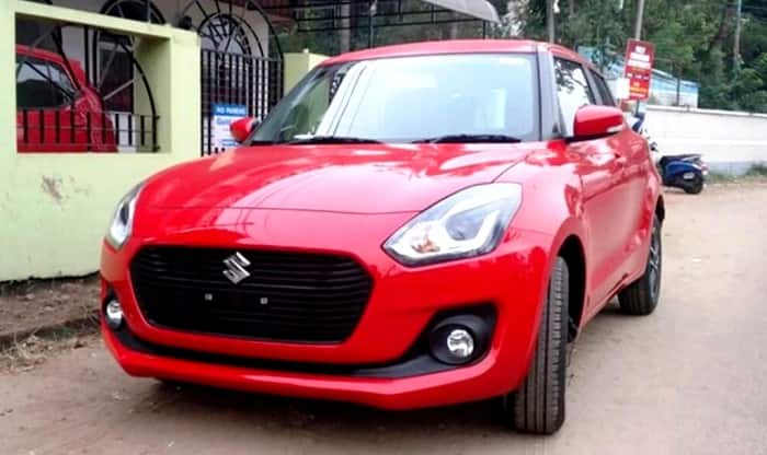 Maruti Swift 2018 spied front