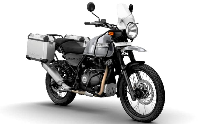 Royal Enfield Himalayan Sleet Front With Accessories