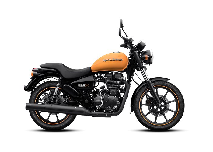 Royal Enfield Thunderbird X Getaway Orange Side Profile