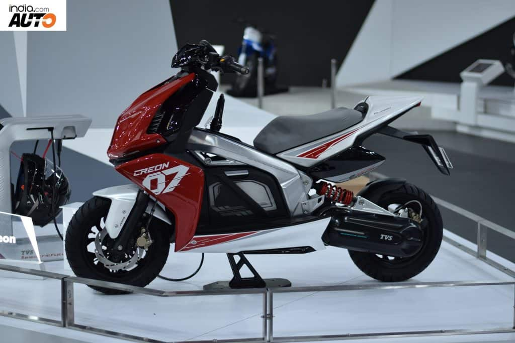 tvs creon electric scooter concept showcased at auto expo. Black Bedroom Furniture Sets. Home Design Ideas