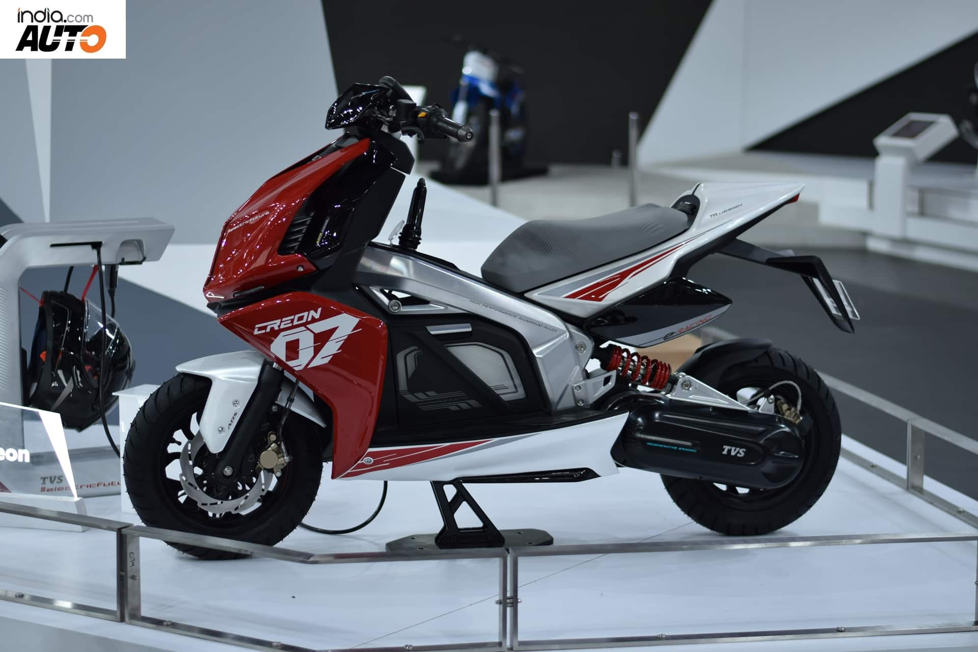 TVS Creon Electric Scooter Concept Showcased At Auto Expo