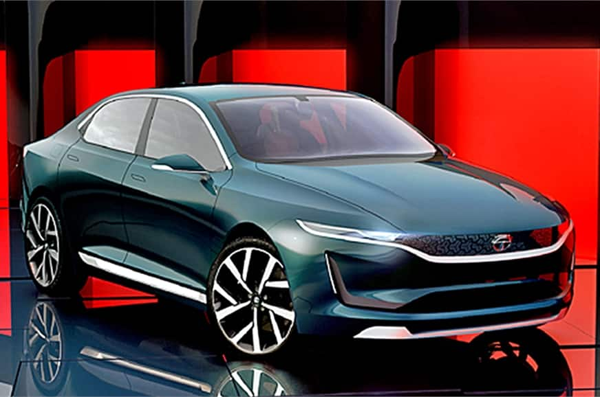 Tata evision sedan concept unveiled at geneva motor show for Tata motors electric car