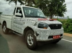 Mahindra Scorpio 2-door pick-up (Getaway) spotted testing