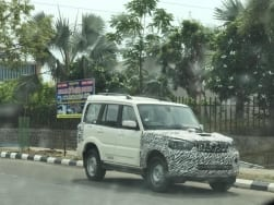 Mahindra Scorpio facelift spy shots reveal new details; to get redesigned grille, headlamps & bumper