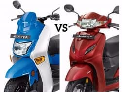 Honda Cliq vs Honda Activa 4G Comparison; Price, specifications, features, mileage