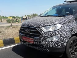 Ford EcoSport 2017 spied with updated SYNC 3 infotainment system; India launch this Diwali
