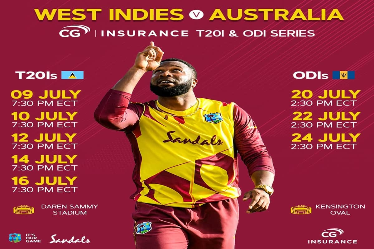 Australia in West Indies,  2021